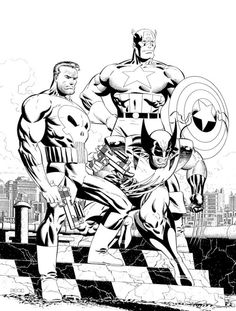 Captain America, Punisher & Wolverine by Mike Zeck