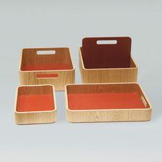 Sand Furniture Tool Box - Oak / Red
