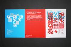 LOVE STORY exhibition / Leaflet & Invitation