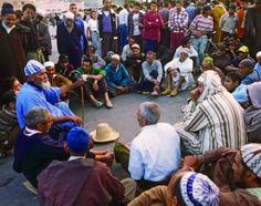 Storyteller's circle in the Jemaa el Fna, Marrakech.