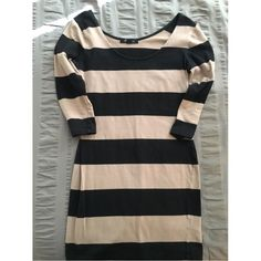 Tunic dress  Beige and black striped dress. Tunic style.. Long sleeve. Very cute! Forever 21 Dresses