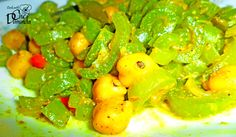 Snake Gourd and Chickpea Curry
