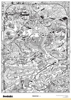 DoodleArt | Posters | Aquarium 24 x 34 inches. Includes double ...
