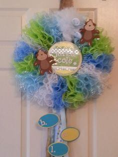 Tule baby wreath...putting name in center...cute!