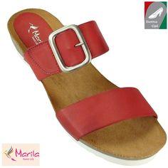 Marila női bőr papucs 7820/B8-36 piros