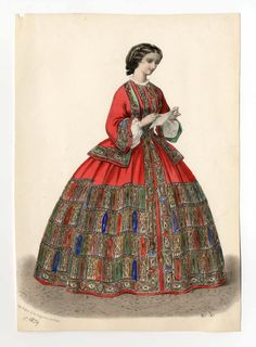 ca.1859 shawl wrapper from an unknown French periodical. Met Museum (no collections link available).