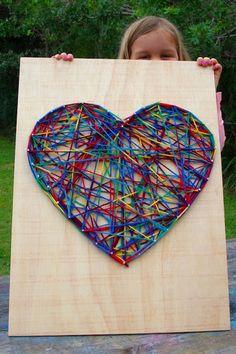 Simple string art for kids