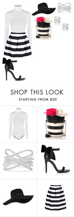 """""""Cute"""" by dianamarierg ❤ liked on Polyvore featuring Wolford, Betsey Johnson, Effy Jewelry, Miss Selfridge and San Diego Hat Co."""