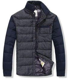 Moncler Men Dark Blue Down Jacket Outlet