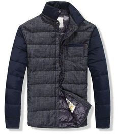 Moncler Men Dark Blue Down Jacket Outlet