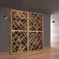 Proof that even in small spaces you can have stylish wine cellar/storage solutions.
