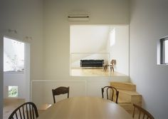 Architecture, Attractive Small House With Gardens Tetsuo Kondo Architects In Kanagawa Featuring Interior Design With Dining And Living Space Connected To The Garden: Small home design with interior garden in Kanagawa