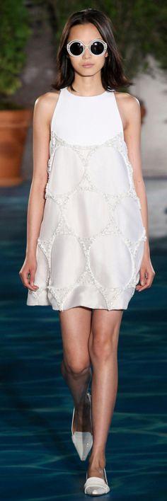 Tory Burch Spring 2014 RTW - white mini dress for summer