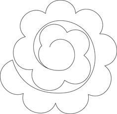 Moldes de flores en fieltro - Imagui: