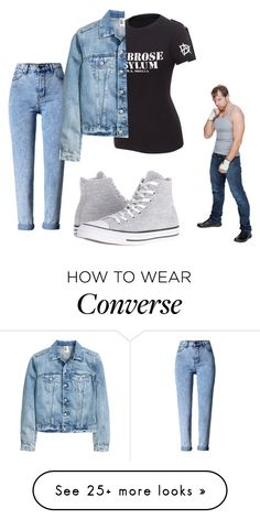 """Instagram friend❤"" by barbierollins on Polyvore featuring WithChic and Converse"