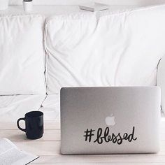 Hashtag Blessed - #Blessed - Vinyl Decal - Laptop Decal - Macbook Decal - Laptop Stickers - Christian Decal - Religious Decal - Car Decal