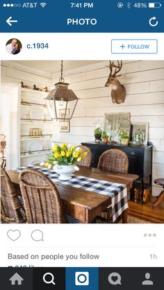 Eclectic Dining Room, Rustic, Formal, Home, Country Primitive, Preppy, Ad Home, Retro, Farmhouse Style