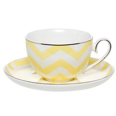 Milk  Sugar - Louie Lemon Cup  Saucer Set | Peter's of Kensington
