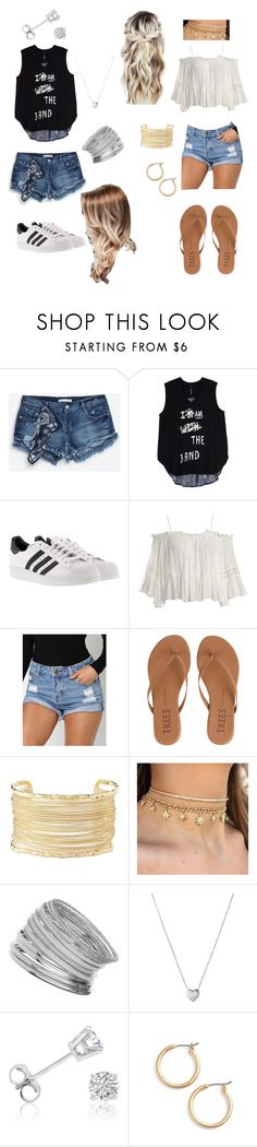 """Concert with the bestie"" by aly-1234 ❤ liked on Polyvore featuring Zara, Melissa McCarthy Seven7, adidas, Sans Souci, Tkees, Charlotte Russe, Miss Selfridge, Links of London, Amanda Rose Collection and Nordstrom"