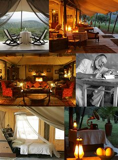 An epic tent can transport you to a classic safari