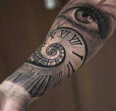 Clock eye tattoo                                                       …