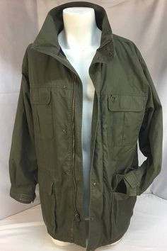 Eddie Bauer Mountain Parka Coat Sz-Med. OD Green Military Military Style 17f7e8aa99a3