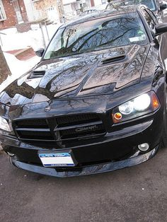 Dodge Charger with the Challenger Hood.