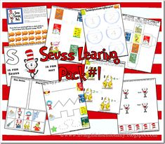 3 free learning packs on dr. Seuss books... I wish I ran a preschool! I'm looking forward to doing these with Eli and Dez