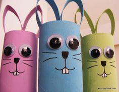 Dicas da Lu Rosa®: Coelhos de rolo de papel higiênico para páscoa