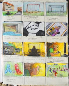 Page 1 of Trollie storyboards from sketchbook