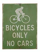 Bicycles only. No cars. Oh what a wonderful world…