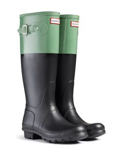 Black and Green Wellies