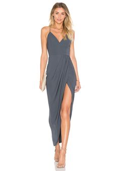 Shona Joy Cocktail Draped Dress in Seaweed | REVOLVE