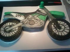 Another amazing cake my mom made. This is too cool. I love dirtbikes.