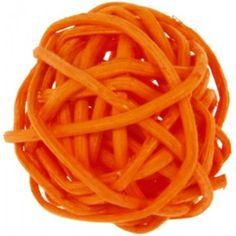 Boule rotin orange 3 cm Les 12, déco, wedding, baby shower, mariage orange, anniversaire, déco de table, baptême