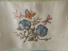Butterfly Meadow embroidered towels by Lennox from Macy's http://www1.macys.com/shop/product/lenox-butterfly-meadow-embroidered-bath-towel-27x50?ID=299720