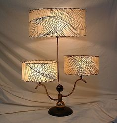 Spectacular mid-century modern/atomic age table lamp