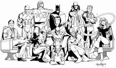 Justice League International poster by Kevin Maguire