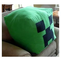 Giant Huge Minecraft Creeper Inspired Bright Green Flannel Soft Zipper Beanbag Pillow Stuffed Animal Cube on Etsy, Minecraft Gifts, Easy Minecraft Houses, Minecraft Toys, Minecraft Bedroom, Minecraft Pixel Art, Cool Minecraft, Minecraft Party, Minecraft Furniture, Minecraft Skins