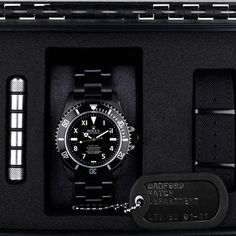 special edition all black rolex... with production dog tags.