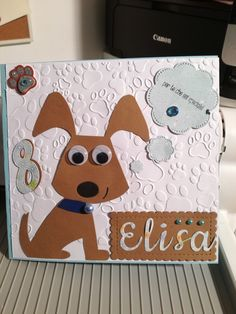 Dog birthday handmade card