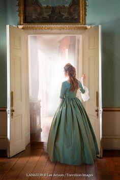 Lee Avison - HISTORICAL WOMAN BESIDE DOORWAY INDOORS - People - Women