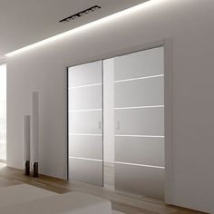 Eclisse Patterned Glass Sliding Pocket Door System - Double Door Kit - Supplied With Glass Doors - Finished Wall Thickness - March 04 2019 at Glass Pocket Doors, Sliding Pocket Doors, Internal Sliding Doors, Sliding Glass Door, Glass Doors, Double Pocket Door, Interior Led Lights, Tempered Glass Door, Door Kits