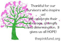 The Pink Fund Giving Tree is thankful for Survivors!