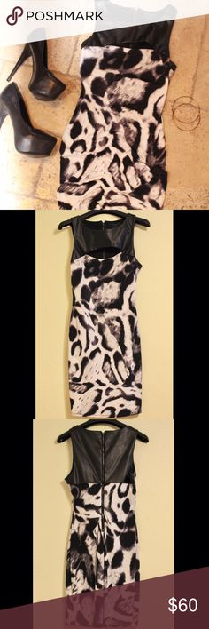 Guess Black & White Dress Guess Dress • black & white • size XS • 100% polyester • worn once • all photos taken by me • open to offers • Guess Dresses