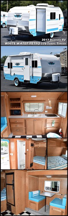 2017 RETRO 176S by RIVERSIDE RV…Sleek lines and curves, colors that punch and fantastic features all with a vintage feel.