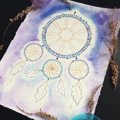 Dreamcatcher plaited of letters. Galaxy one! #dreamcatcher #calligraphy