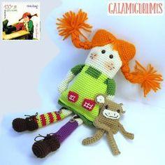 Pippi Calzaslargas y su Mono Mr. Nilsson. Patrón