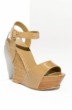 alice + olivia 'joyce' wedge sandals ... love nude shoes b/c they make your legs look endless