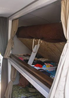 We'll be doing a version of this under-the-mattress storage in our own bus…